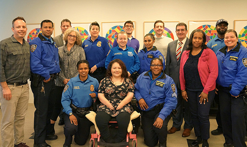 KEEN staff and board with NYPD at training